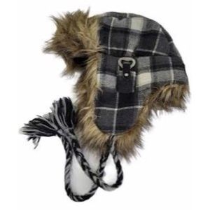 American Eagle Grey Fur Lined Winter Hat